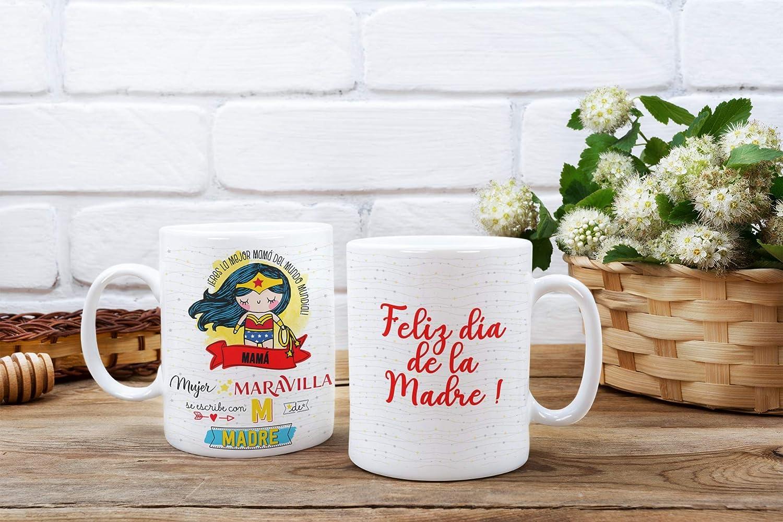 Luckygrafic Taza d/ía de la Madre mam/à Mother.