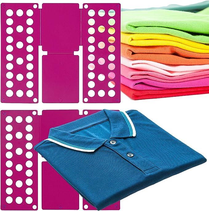 MovilCom® Doblador de Ropa, doblador de Camisas, Tabla para Doblar Camisas, Laundry Folder Fucsia: Amazon.es: Hogar