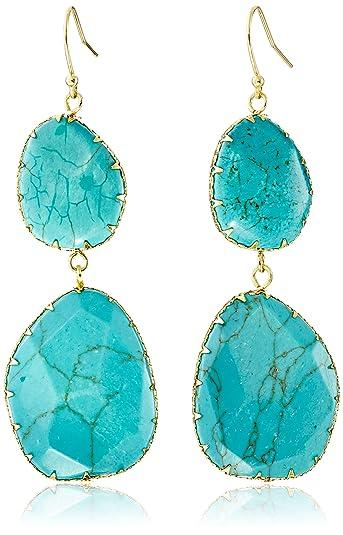 Panacea Stone Double-Drop Fringe Earrings seaSYjqft3