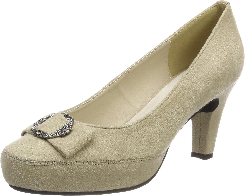 TALLA 38 EU. Hirschkogel 3001508, Zapatos de Tacón con Punta Cerrada para Mujer
