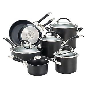 Circulon 87376 Symmetry Cookware Set, 11-Piece, Black