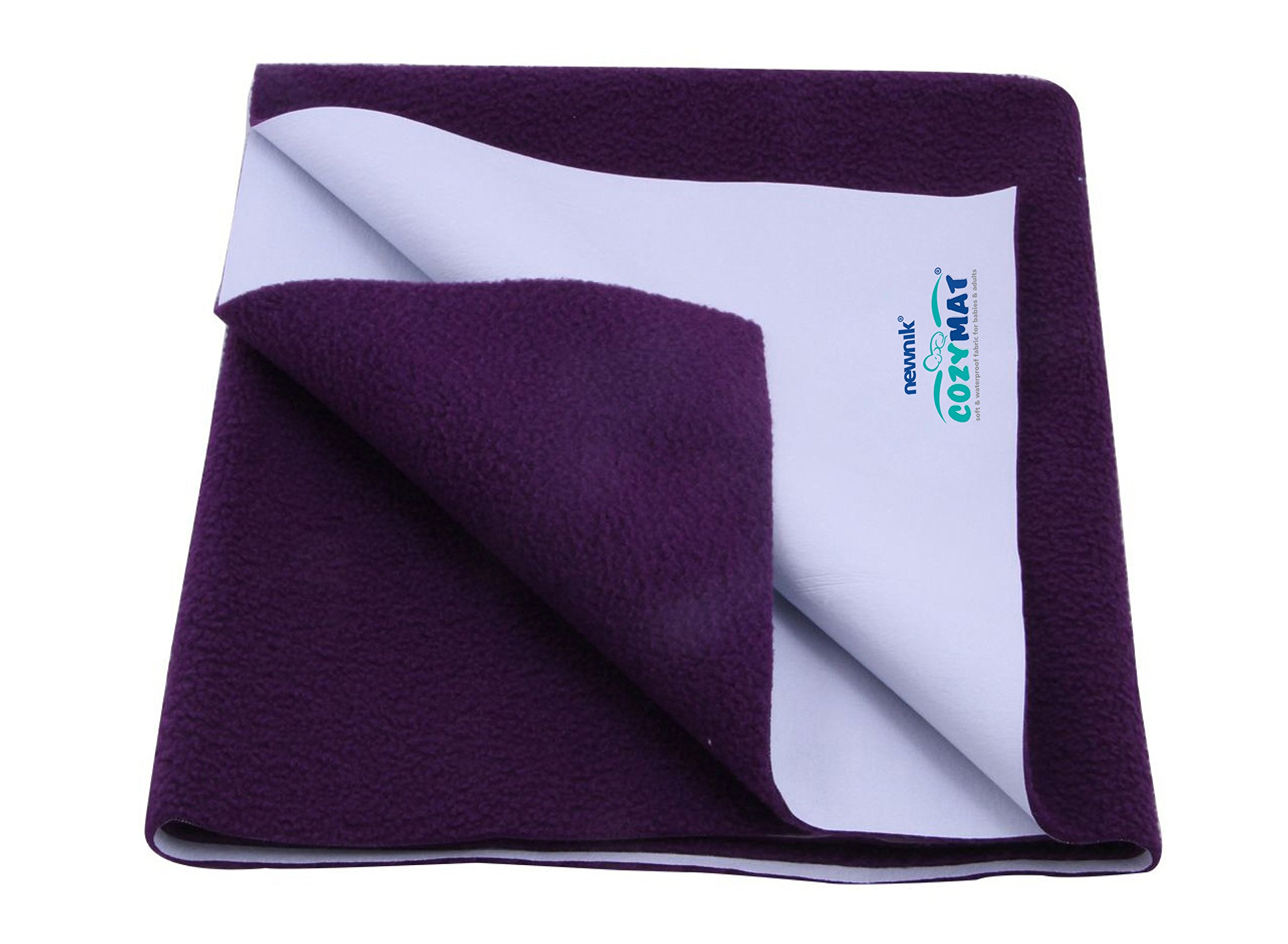 Cozymat Dry Sheet Waterproof Breathable Bed Protector (Size: 140cm X 100cm) Plum, Large by cozymat