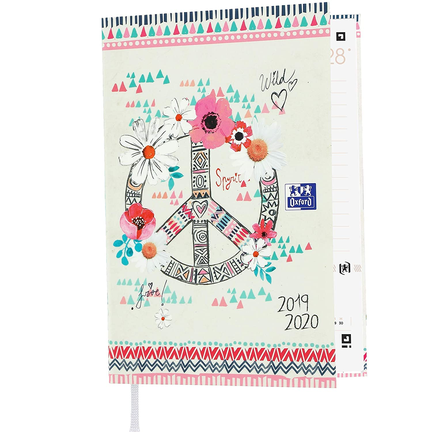 Amazon.com : Oxford Boho Chic Daily Academic Diary 2019-2020 ...