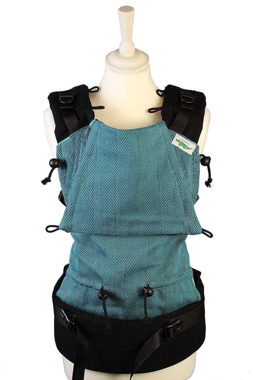 Buzzidil Babytrage Anthony's Ocean - mitwachsende Bauchtrage, Rückentrage, Hüftsitz | Babytrage mit Schließen ohne Binden (Standard) Rückentrage