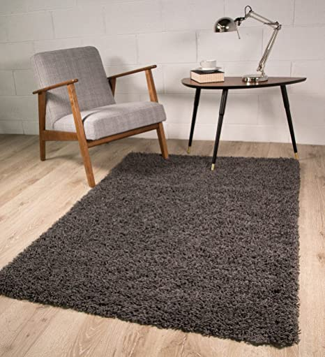 The Rug House Soft Non Shed Thick Plain Easy Clean Shaggy Rugs ...