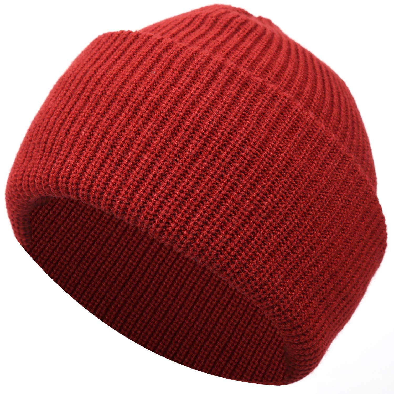 Muuttaa Winter Warm Soft Folded Brim Knitted Beanie Hat for Men and Women