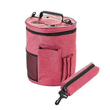 Bolsa de almacenamiento de tejido de punto/ganchillo, HomeYoo Bolsa para hilos de tejer