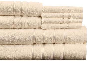 Lavish Home - Juego de 100% algodón Egipcio de baño Juego de Toallas: Amazon.es: Hogar