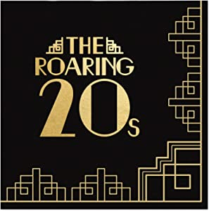 Big Dot of Happiness Roaring 20's with Gold Foil - 1920s Art Deco Jazz Party Cocktail Beverage Napkins (16 Count)