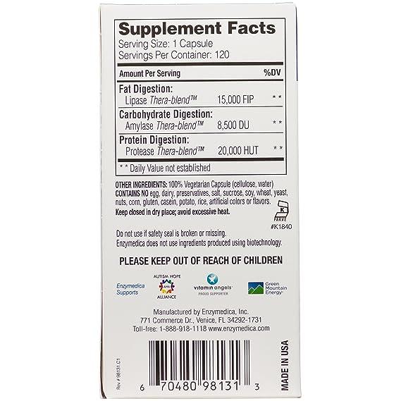 Enzymedica Lypo Gold 120 Capsules: Amazon.es: Salud y ...