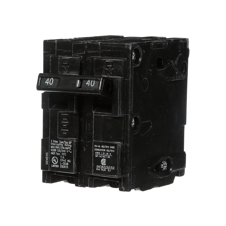 Q240 40 Amp Double Pole Type Qp Circuit Breaker 240 Volt Two Way Switch