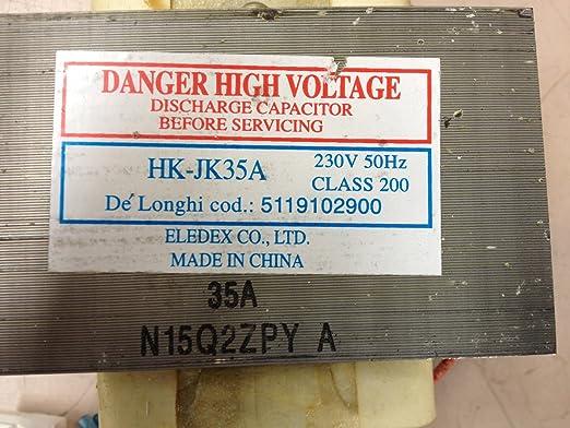 Transformador para horno a microondas DeLonghi hk-jk35 a ...