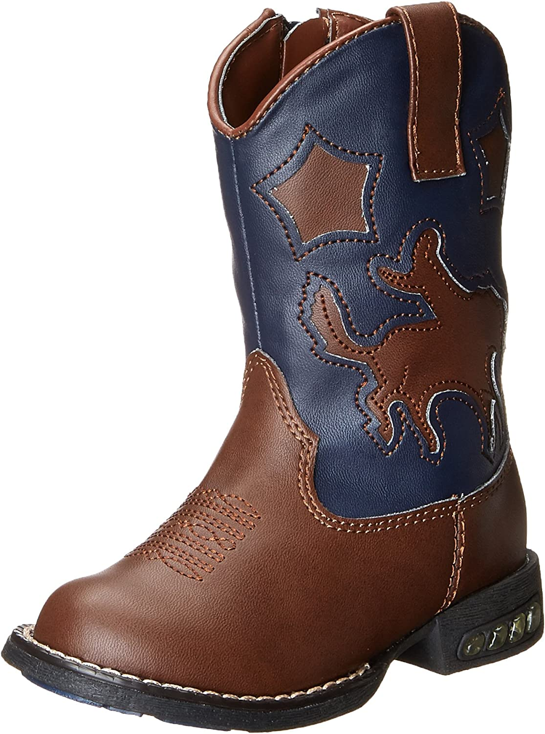 Roper Star Rider R Toe Light Up Cowgirl Boot Toddler//Little Kid
