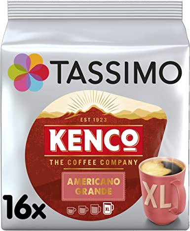Tassimo Kenco Americano Grande Coffee Pods Pack Of 5 80 Pods In Total 80 Servings