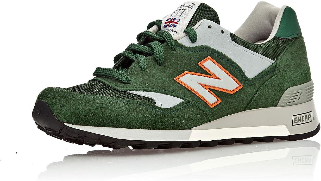New Balance Zapatillas Lifestyle M577GGO Verde/Naranja EUR 42 (US 8.5): Amazon.es: Zapatos y complementos