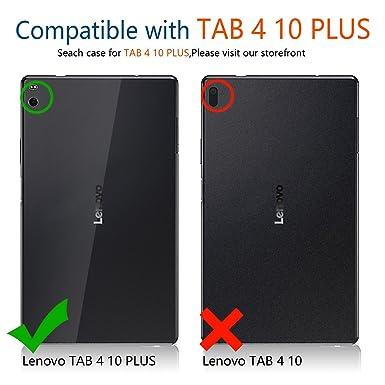 Amazon.com: IVSO Lenovo Tab 4 10 Plus Funda con teclado ...