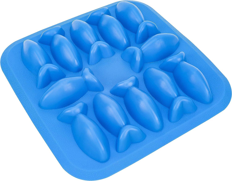 Fairly Odd Novelties FON-10002 Fish Ice Cube Tray, Onesize, Blue