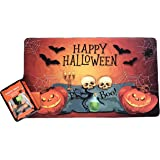 NT Happy Halloween Spooky Doormat with Screaming Mat Bundle Set