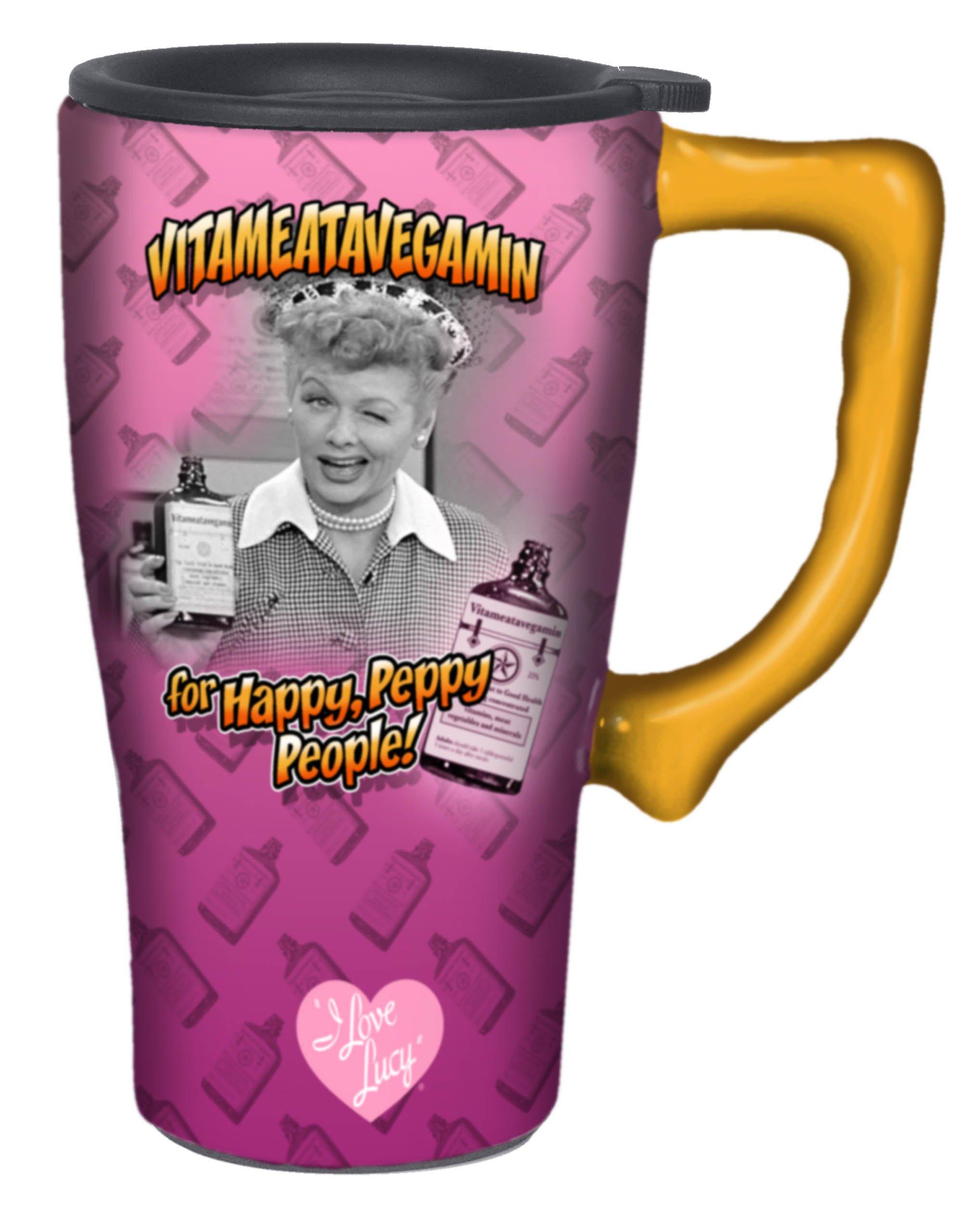 I Love Lucy Travel Mug, Pink