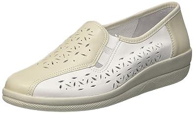 Comfortabel 941820, Damen Slipper, Weiß (Platin/Weiß), 37 EU
