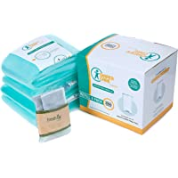 Dekor Classic Refill - 4 Pack - Disposable Diaper Pail Liners Hold Up to 2000 Diapers + Bonus Bamboo Charcoal Odor Smell…