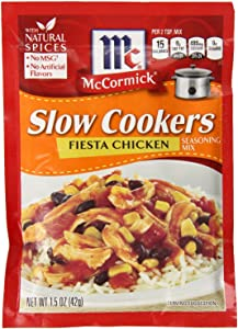 McCormick Slow Cookers Fiesta Chicken Seasoning Mix (Pack of 2) 1.5 oz Packets