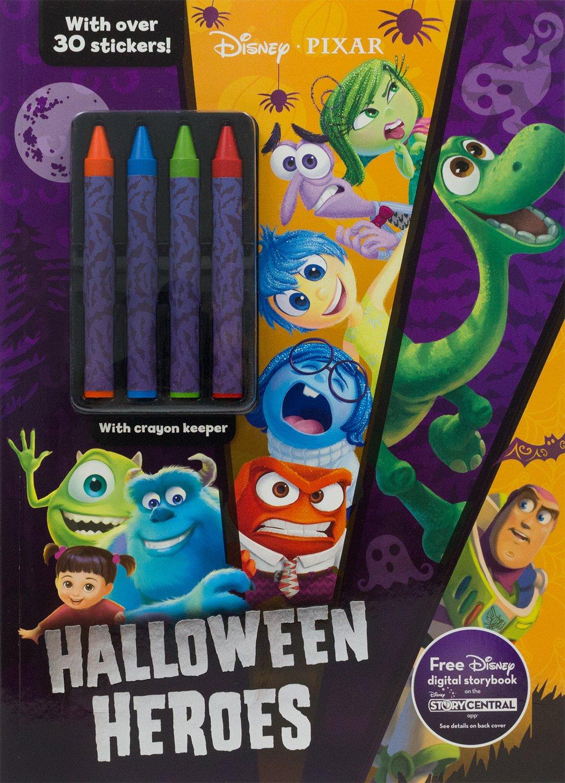 Disney Pixar Halloween Heroes Color Activity With Crayons