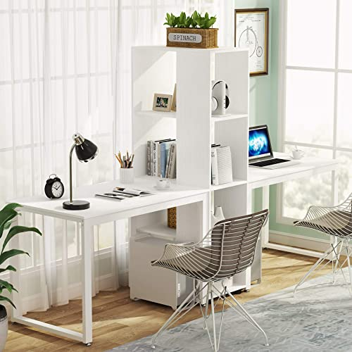 Best home office desk: Tribesigns 91″ Computer Office Desk