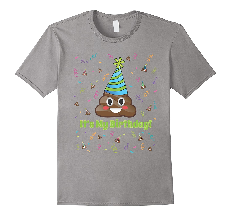 Poop Emoji Its My Birthday Shirt Girls Boys