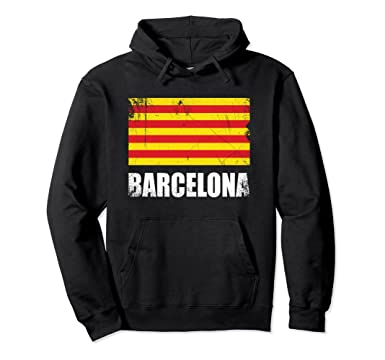Amazon.com: Barcelona Flag Hoodie Camisetas Bandera Catalunya Apparel: Clothing