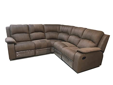Amey Corner Sofa Set With 2 Single Recliners: Amazon.in: Home & Kitchen