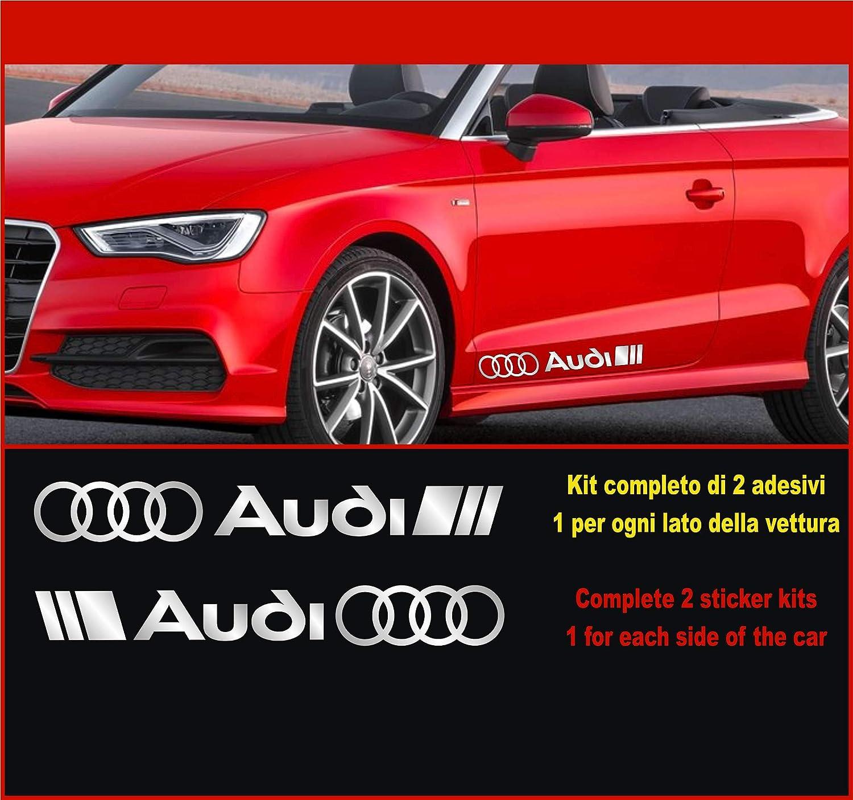 Kit Adesivi Stickers A1 A3 A4 A5 A6 Q2 ECC Scegli SUBITO Colore -2 Adesivi Tuning Auto Car Kit n.2 cod.0502