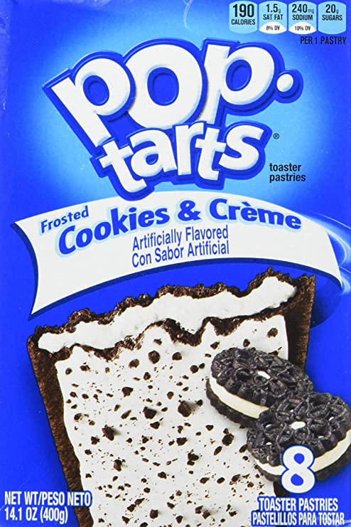 Kelloggs Pop-Tarts Cookies & Creme 8 piece (400g): Amazon.es ...