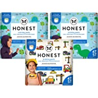 The Honest Company Training Pants | Club Box | Dinosaurs & Construction, 4t5t, 57ct, 57 Count