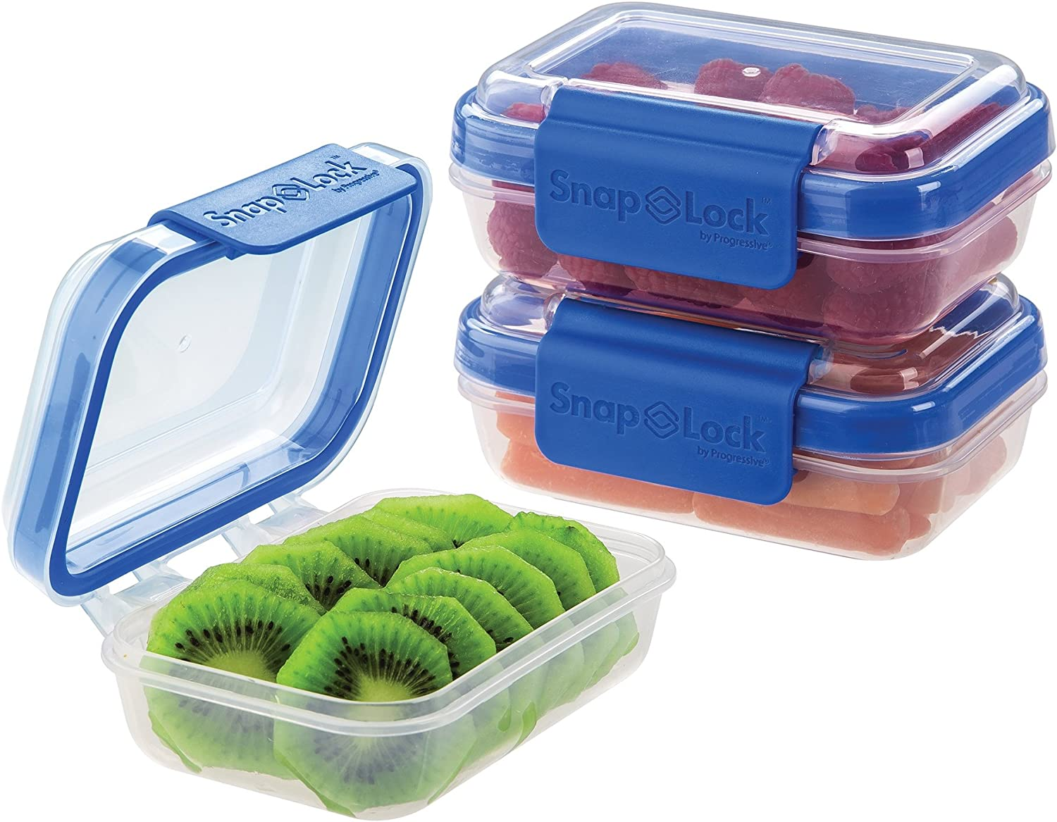 Leak-Proof Silicone Seal SNL-1015SETG  Easy-To-Open SnapLock by Progressive 2-Cup Container Set Stackable Green 2-Pack, 2-Cup Capacity BPA FREE Snap-Off Lid