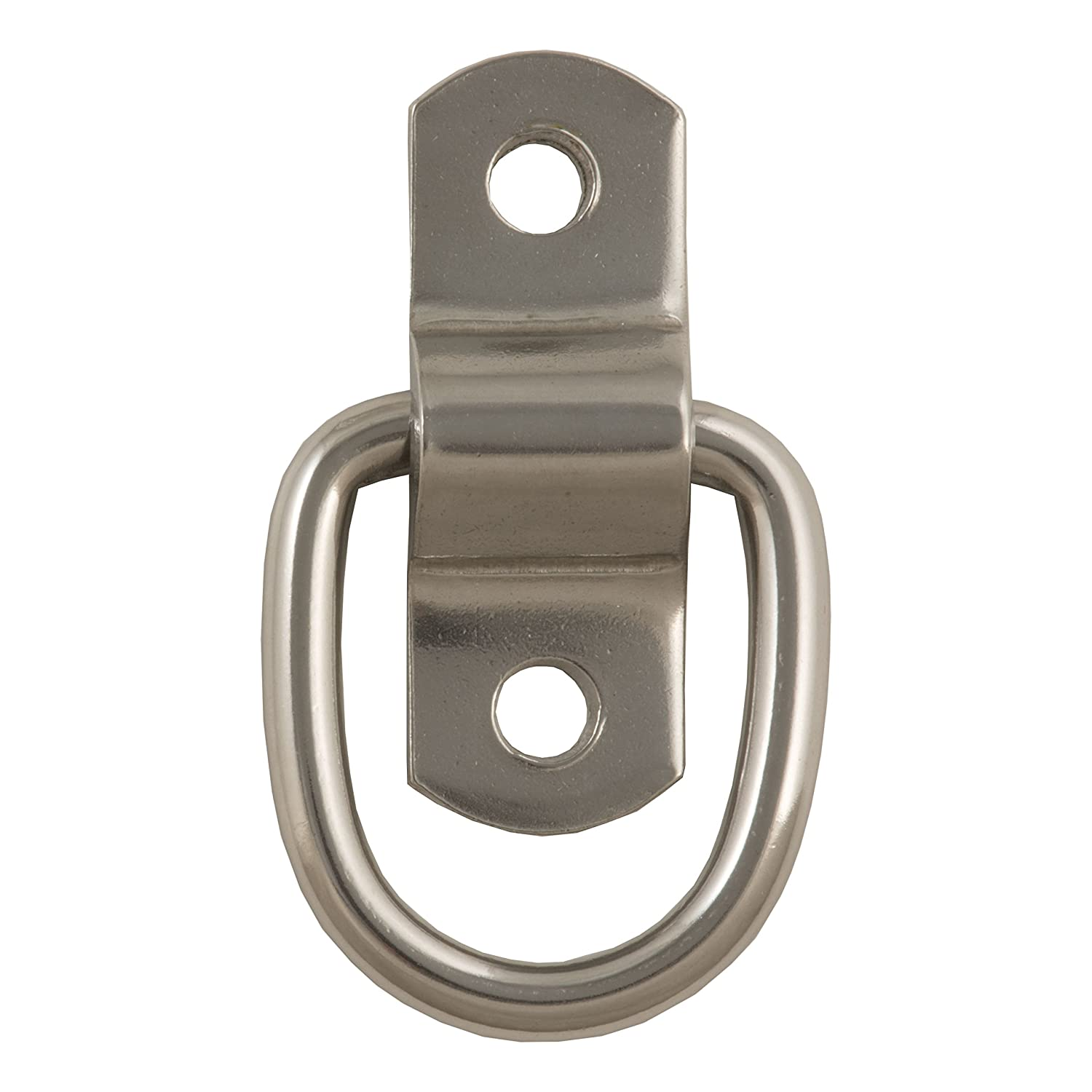 Break Strength CURT 83732 1-Inch x 1-1//4-Inch Surface-Mounted D-Ring Tie Down Anchors 1,200 lbs