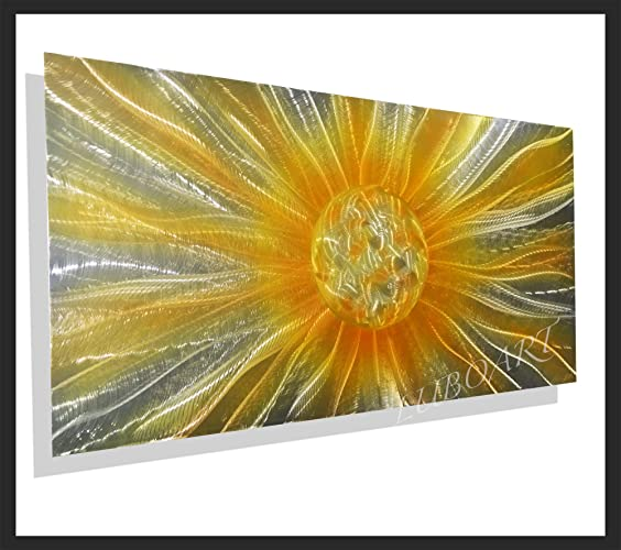 Amazon Com 48 X24 Painting On Metal Modern Art Golden