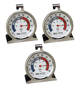 Tru Temp Refrigerator-Freezer Thermometer, 3 Pack