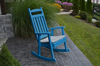 product image for Furniture Barn USA Outdoor Poly Classic Porch Rocker - Blue