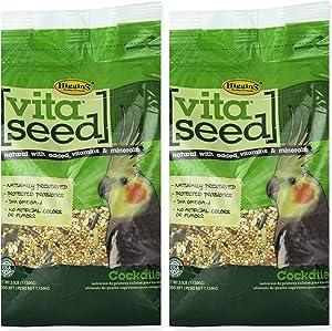 Higgins 2 Pack Vita Seed Cockatiel Food 2.5 LB. Ea Cockatiel Food 2 Bags 5 Pounds Total