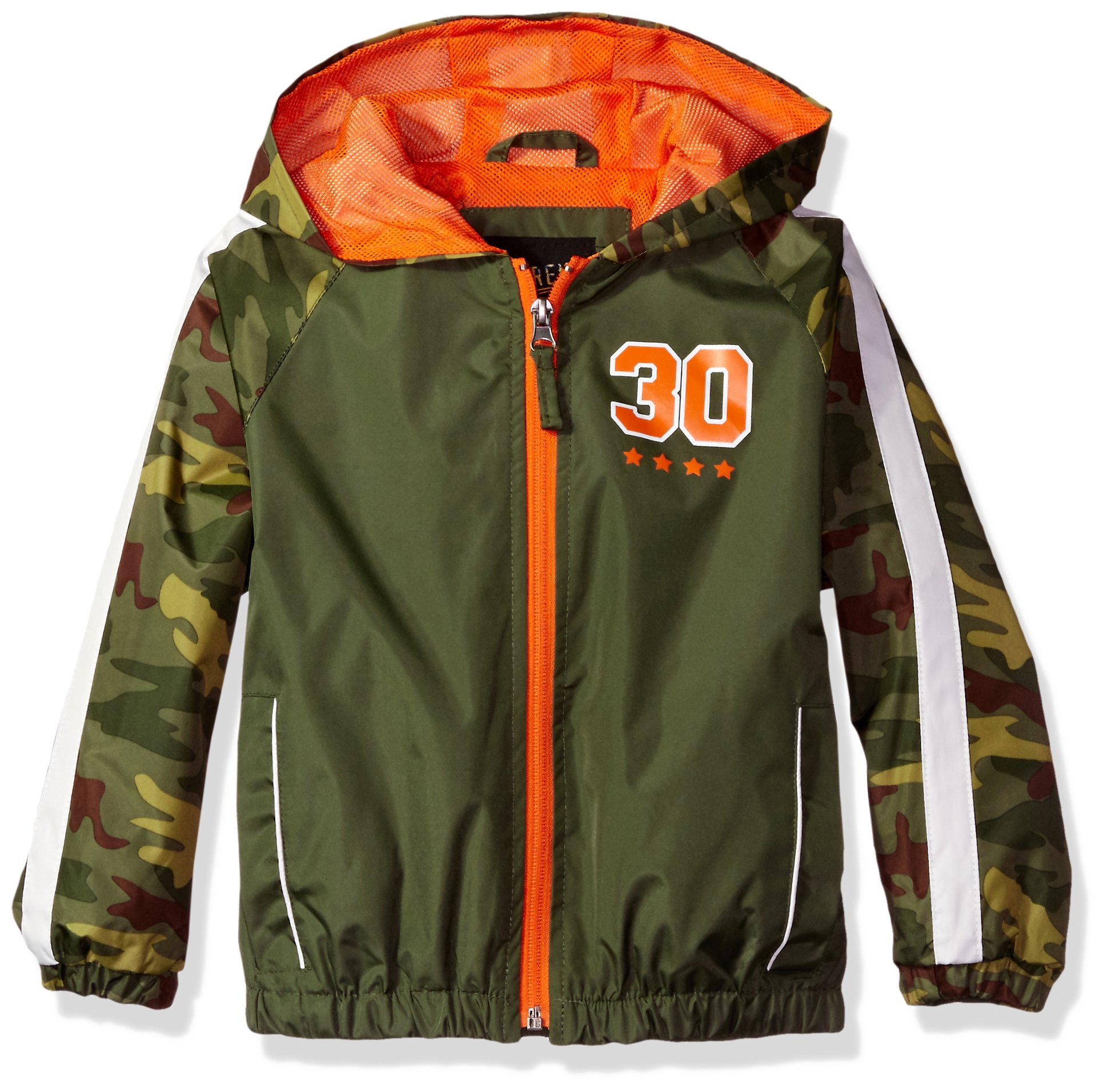 iXtreme Little Boys' Camo Jacket W/Mesh Lining, Olive, 5