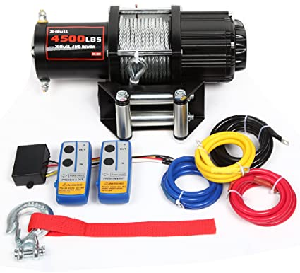Amazon.com: X-BULL 12V 4500LBS Recovery ATV/UTV Winch Kits Wireless on