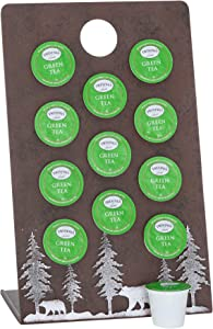Pine Ridge Cup Holder Kitchen Counter Decor and Accessories - Compatible with Keurig K Cups Decorative Coffee Holder - Kcups Coffee Bar Accessories Decor Storage Shelves
