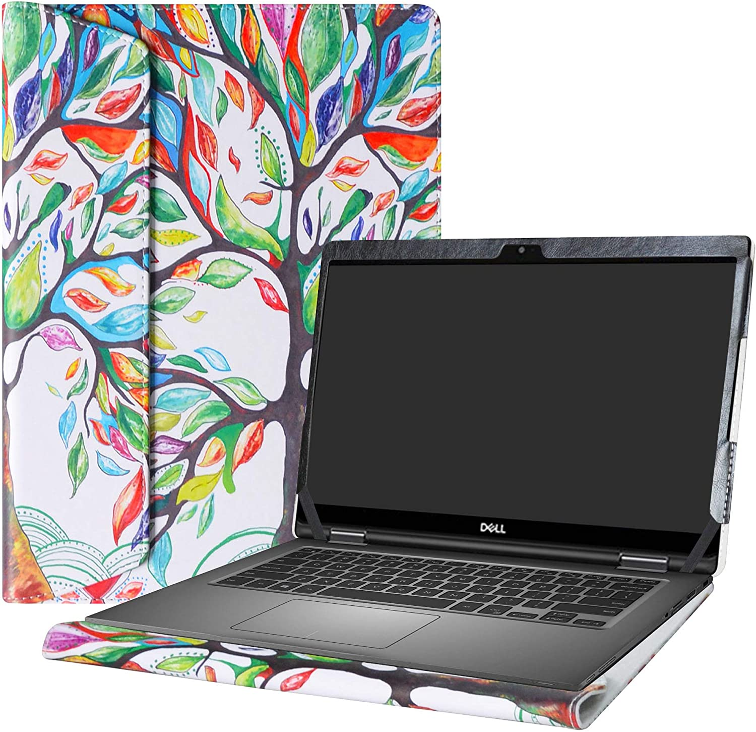 """Alapmk Protective Case Cover for 13.3"""" Dell Latitude 13 7389 7390 2-in-1 Series Laptop(Warning:Not fit Latitude 13 7350 2-in-1/Latitude 13 7390/Latitude 13 7380 7370),Love Tree"""