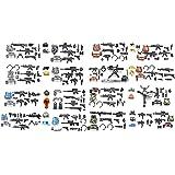 Magma Bricks: Gilet tactique de Special Force, Mitrailleuse, Casque, Ceinture Tactical pour tous les champs de bataille pour personnaliser des figurines LEGO 145 PCS