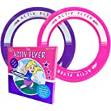 Activ Life Kid's Frisbee Rings, (2 Pack) - Pink/Purple