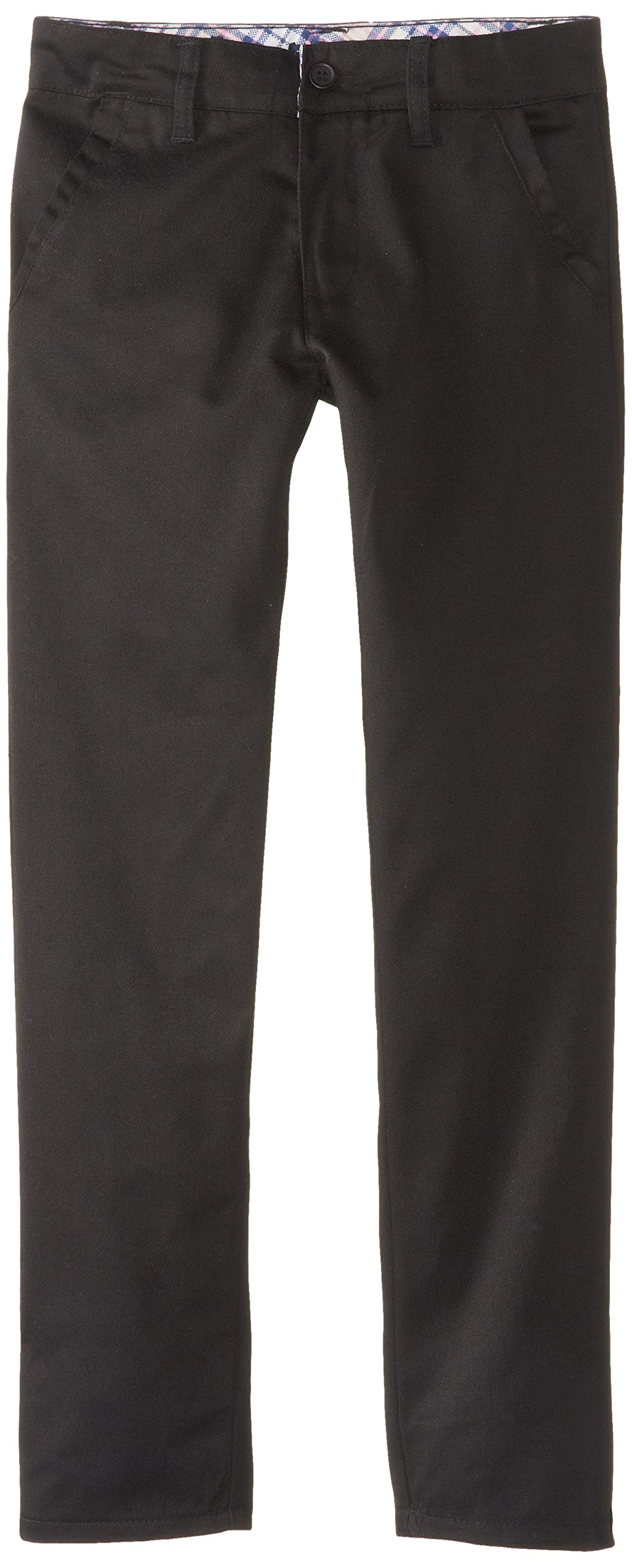 U.S. Polo Assn. Big Girls' Twill Pant (More Styles Available), Skinny Black-IJVCA, 10