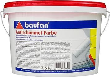 Baufan Antischimmelfarbe Anti Schimmelfarbe 25l Amazonde Baumarkt