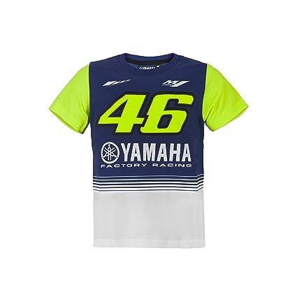 Valentino Rossi VR46 Moto GP M1 Yamaha Racing Niños Camiseta Oficial 2017