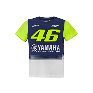 2e51cf15d521 Valentino Rossi VR46 Moto GP M1 Yamaha Racing Junior T-shirt Official 2017